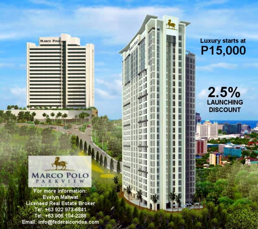 Marco Polo Parkview is a luxury development of Federal Land in Nivel Hills, Cebu City.